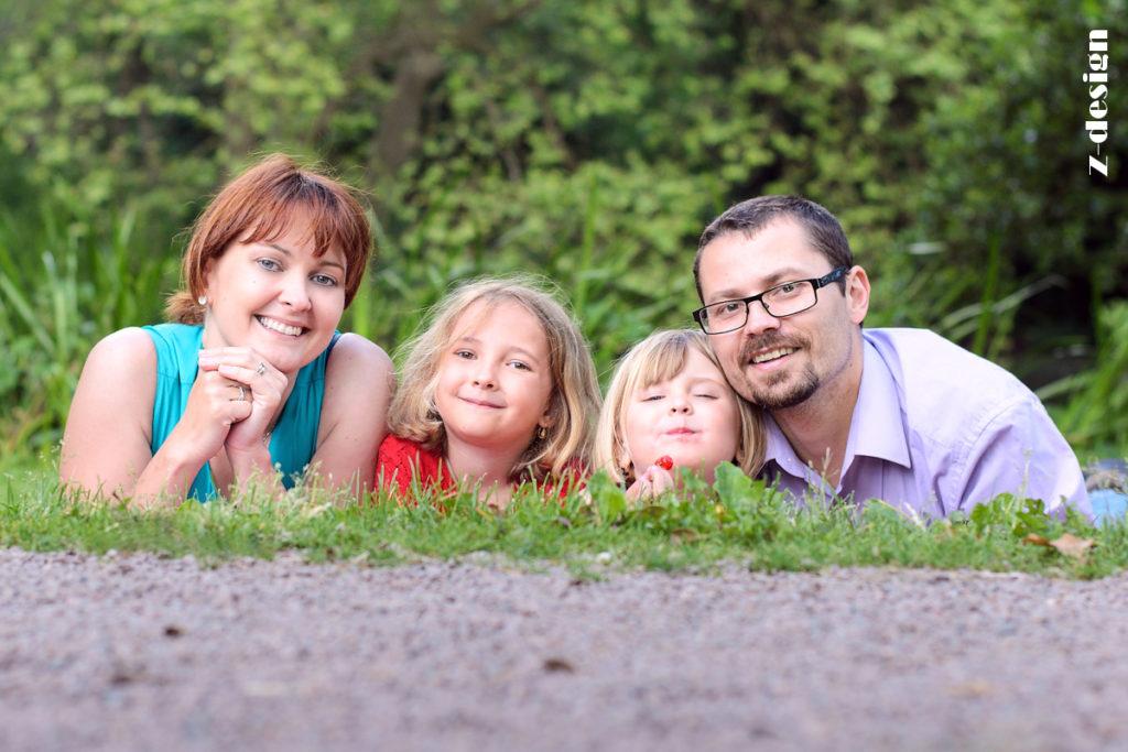 portrét rodina, léto 2017